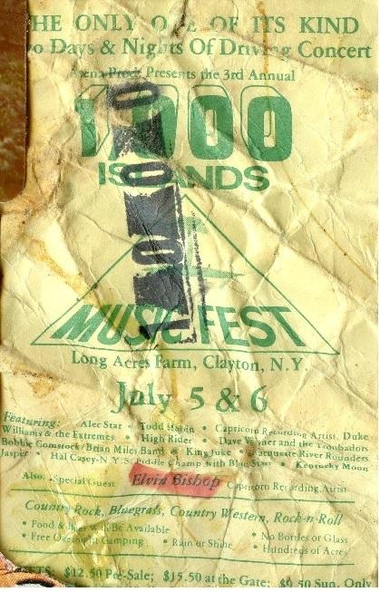 Concert History 1980s